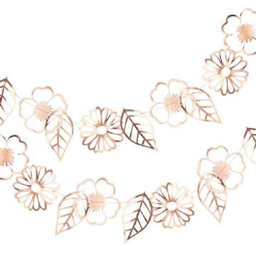 Ditsy Floral Rose Gold Flower Garland - 3m